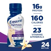 Ensure High Protein Nutrition Shake, Low Fat, Vanilla, 8 ounces, 24 count
