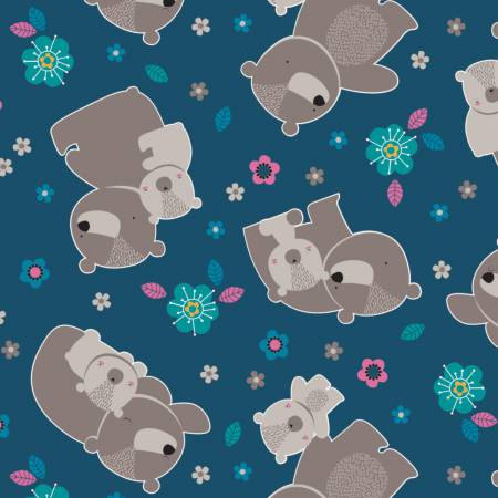 Flannel Made from Bamboo by Emma and Mila from the Baby Mine Collection - Bears in Blue
