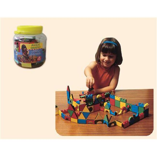 EDUSHAPE EDU-977081 Jar Magic Shapes 81 pcs Toy