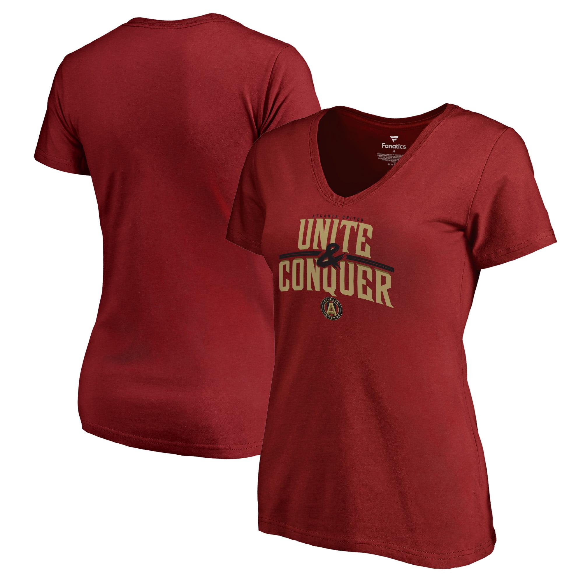 Atlanta United FC Fanatics Branded Women's Unite & Conquer V-Neck T-Shirt - Cardinal