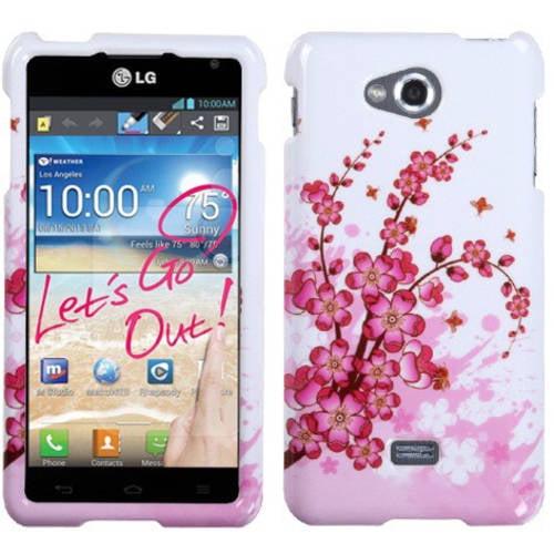 LG MS870 Spirit 4G MyBat Protector Case, Spring Flowers