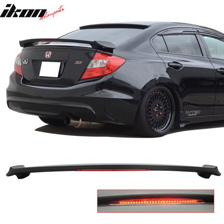 Terrific Honda Civic 12 15 9Th Gen Sedan 4Dr Led Trunk Spoiler Matte Black Caraccident5 Cool Chair Designs And Ideas Caraccident5Info