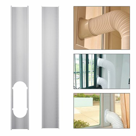 2Pcs 130cm Adjustable Window Slide Kit Plate Spare Parts For Portable Air Conditioner