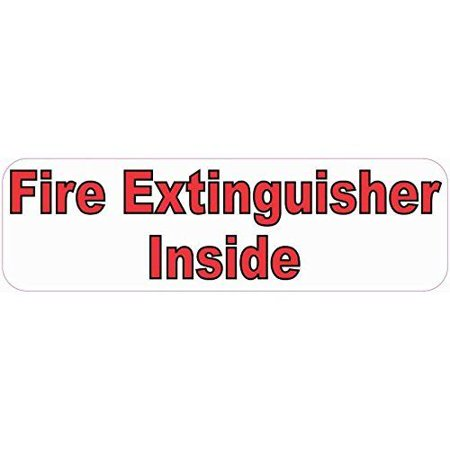 10in x 3in Fire Extinguisher Inside Sticker Car Truck Vehicle Bumper - Aftermarket Truck Bumpers