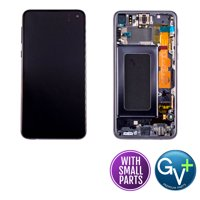 "Touch Screen Digitizer and AMOLED Frame Assembly Display Assembly for Prism Black Samsung Galaxy S10e SM-G970, SM-G970U, SM-G970W, SM-G970F/DS (5.8"") (GV+ Performance)"