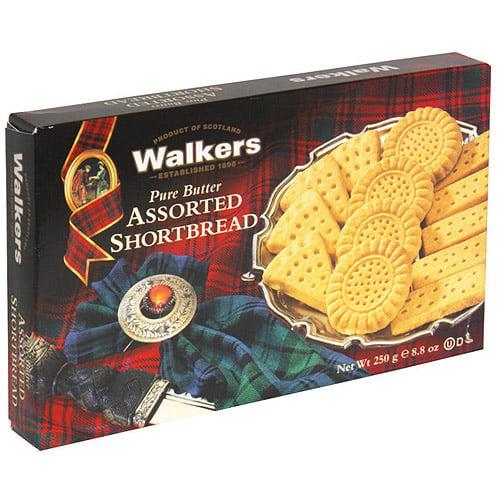 Walkers Assorted Shortbread Cookies, 8.8 oz (Pack of 6)