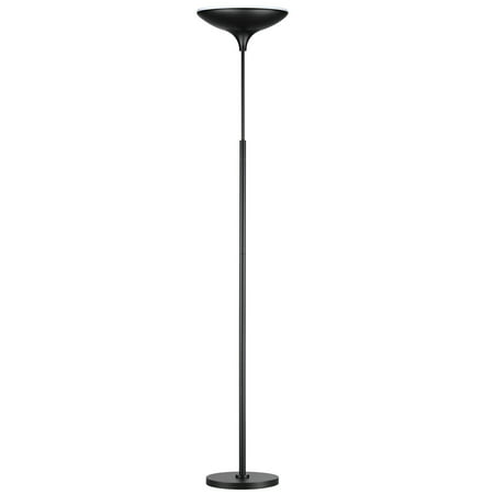 Globe Electric 71 in. Matte Black Energy Star Dimmable LED Floor Lamp Torchiere, 12784