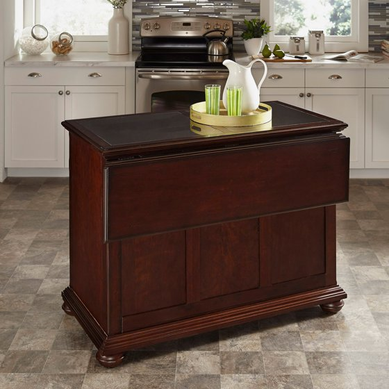 Kitchen Classical Colonial Kitchen Design With Island For: Colonial Classic Kitchen Island With Granite Top