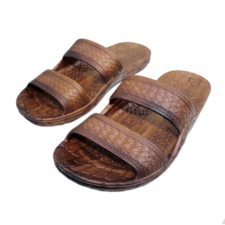 Rubber Double Strap Jesus Sandals By Imperial Hawaii for Women Men and Teens (Womens Size 9, Mens size - Mens Roman Gladiator Sandals
