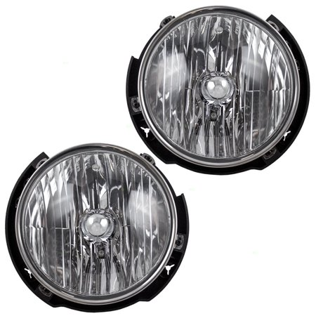 BROCK Halogen Headlights Headlamps Pair Set Replacements for 07-17 Jeep Wrangler 55078149AC 55078148AC