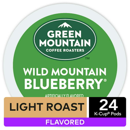 Green Mountain Coffee Wild Mountain Blueberry, Flavored Keurig K-Cup Coffee Pods, Light Roast, 24 (Best Blueberry Coffee Cake)