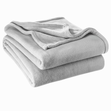 Ultra Soft Coral Fleece Blanket Warm Sofa Cover Fuzzy Flannel Fur - All Season Premium Bed Blanket Gray ( Twin