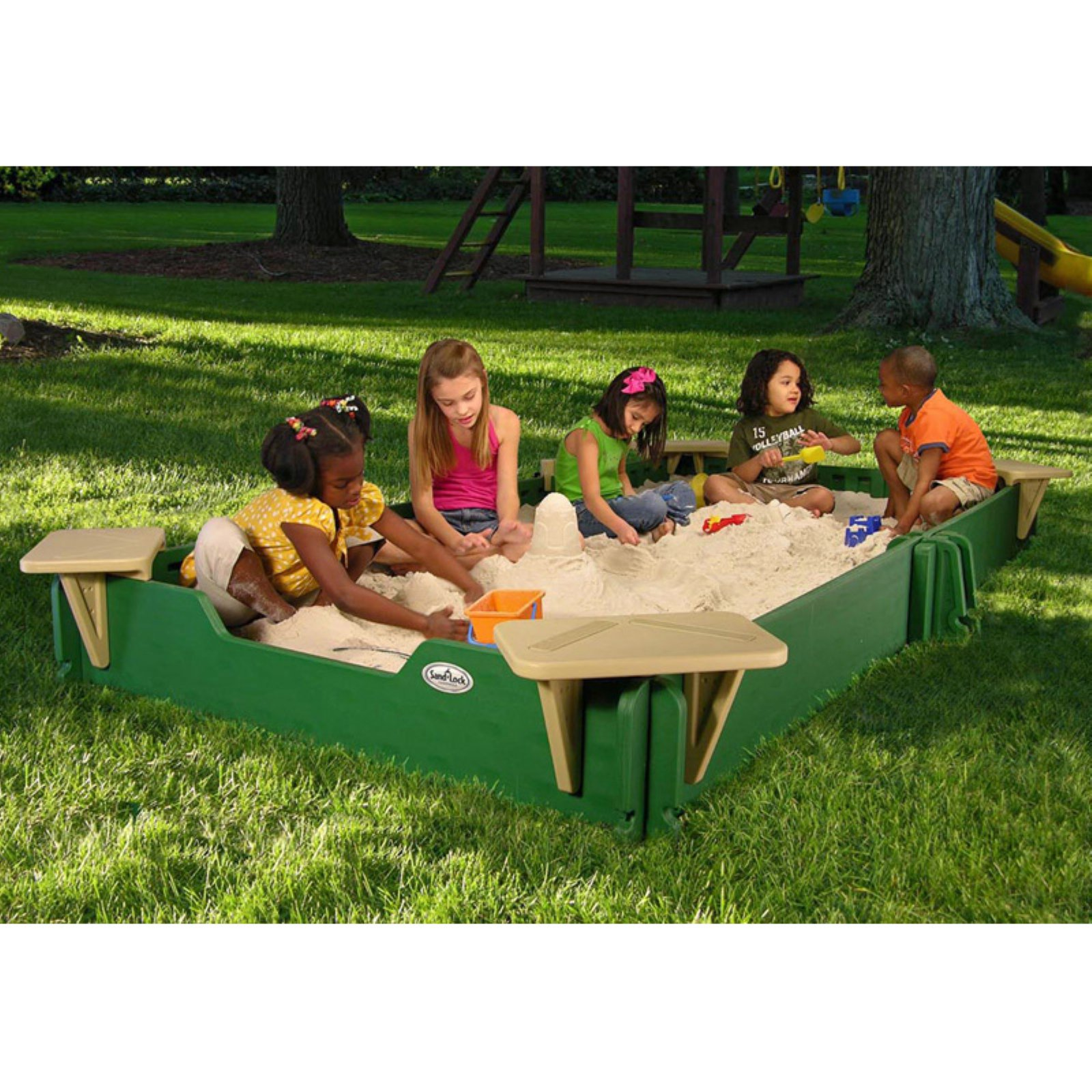 Sandlock 5 x 10-ft. Sandbox with Cover by Sandlock Sandboxes