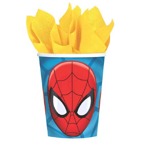 Spiderman 9Oz. Cups (8 Pack) - Party Supplies