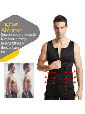 Sauna Vest for Men with Waist Trainer,2 in 1 Mens Workout Sweat Jacket with Waist Trimmer,Neoprene Zipper Weighted Sauna Suit