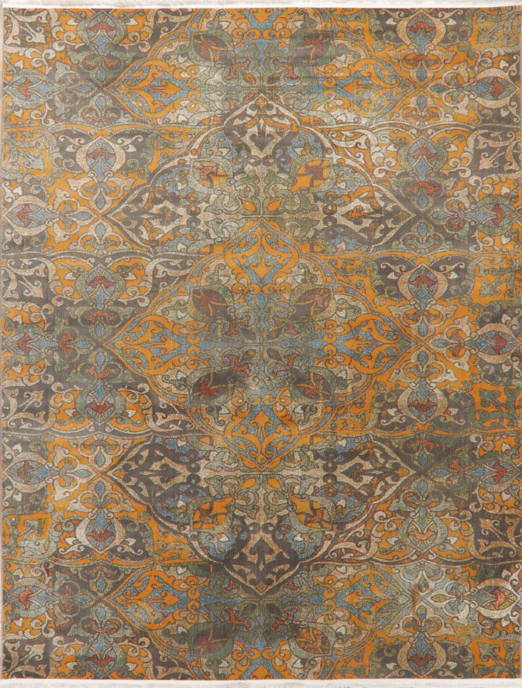 Oriental Distressed Area Rug 8x10 Faded Turkish