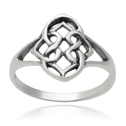 Journee Collection Sterling Silver Celtic Ring Silver, 5
