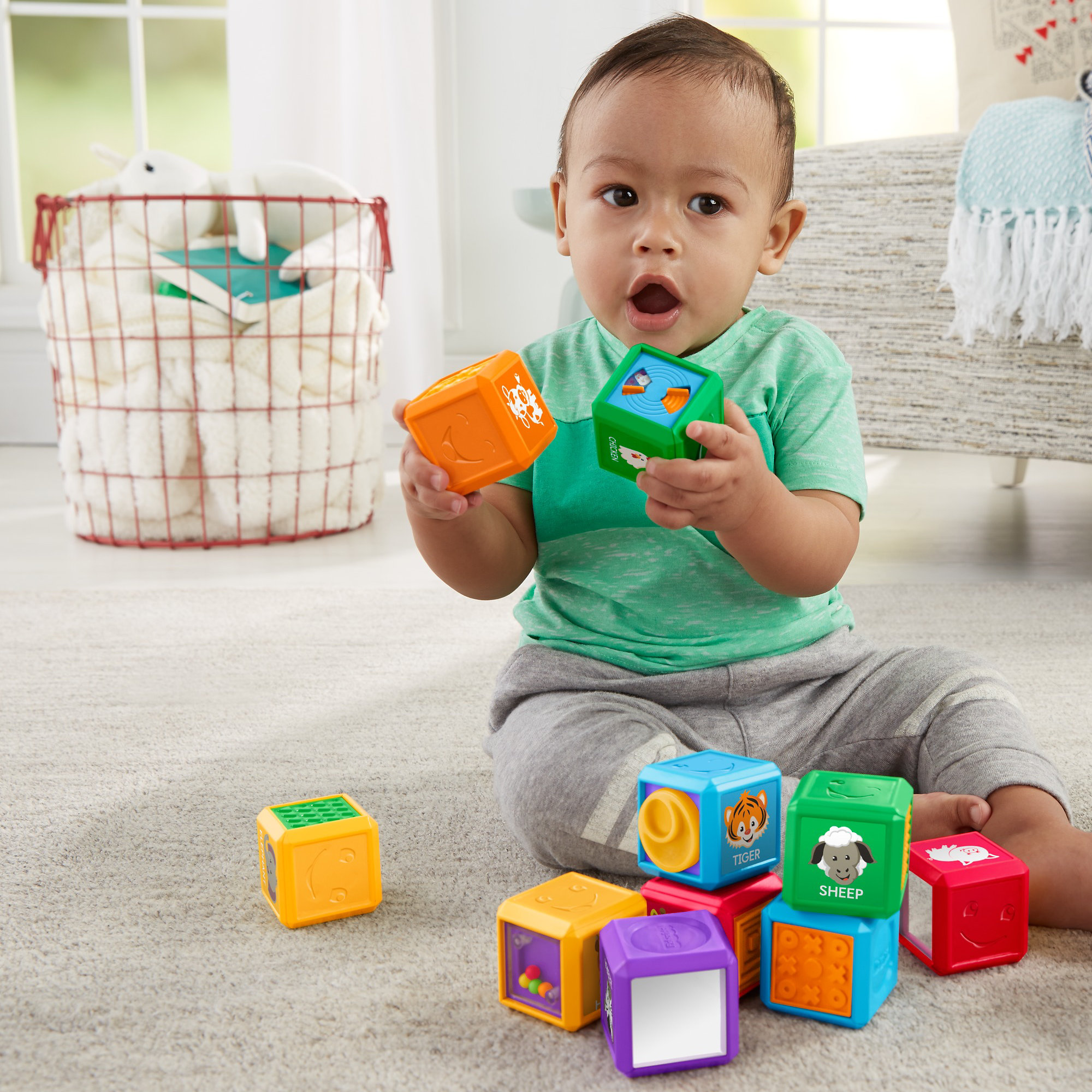 Fisher Price Laugh & Learn First Words Animal Blocks by Fisher-Price