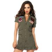 Leg Avenue Women's Plus Size Top Gun Pilot Dress Costume