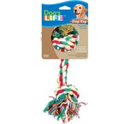"Penn Plax RF22C 13-1/2"" Large Ruff-Stuff Multi-Color Cotton Rope Dog Toy"