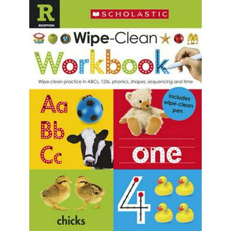 Scholastic Early Learners: Wipe Clean Workbook (Reception) - Cheap Reception Ideas