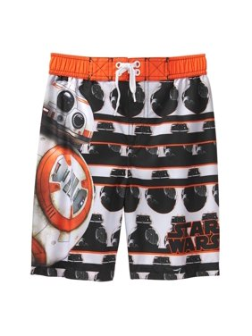 Star Wars BB-8 Big/Little Boys' Swim Trunks Boardshort Swimwear