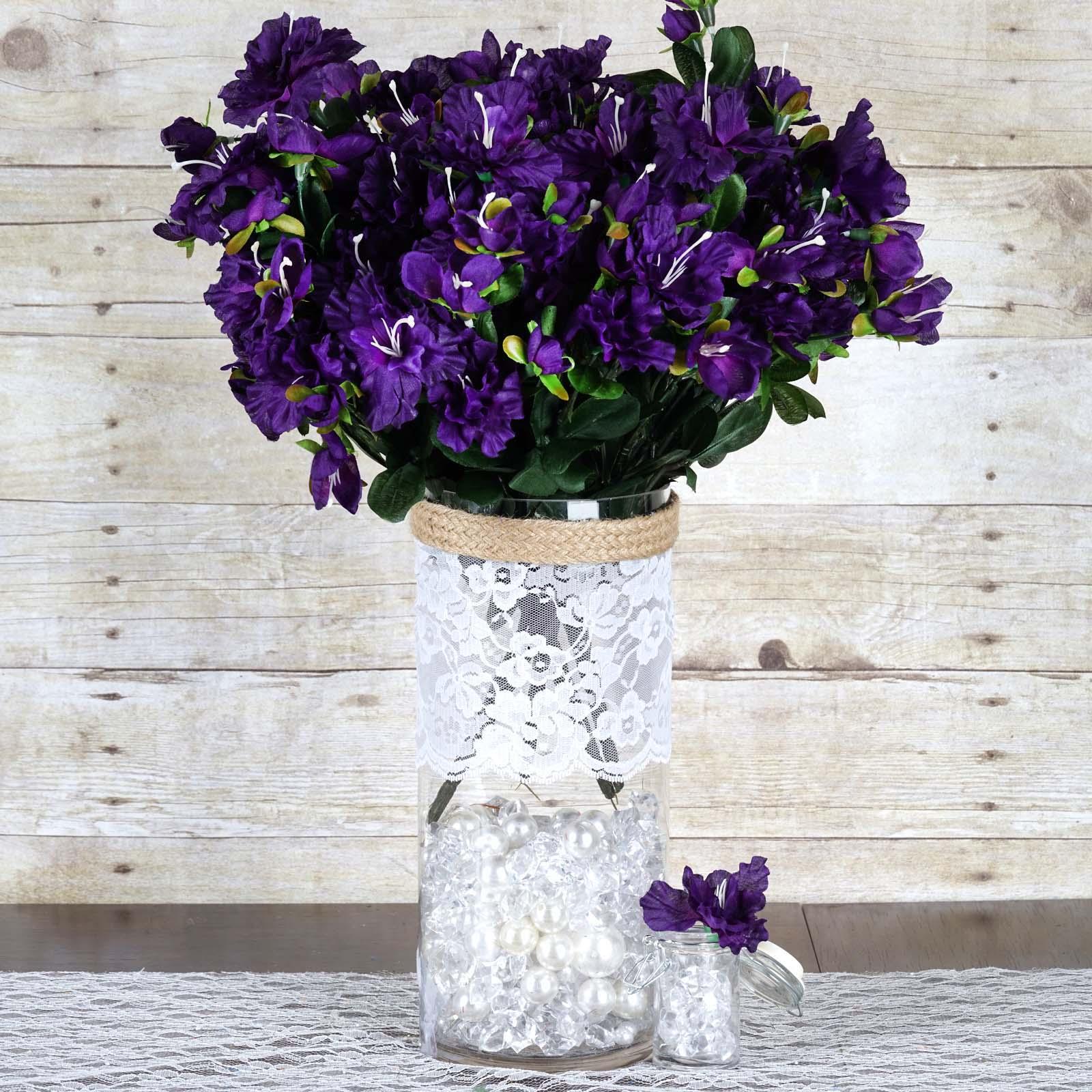 Efavormart 120 pcs Artificial GARDENIAS Flowers for DIY Wedding Bouquets Centerpieces Arrangements Party Home Decoration - 4 bushes