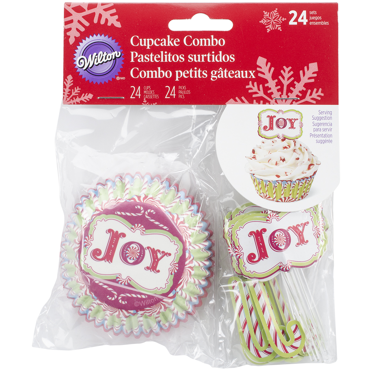 Cupcake Combo Pack Makes 24-Candy Cane