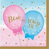 Gender Reveal Balloons Napkins, 48 Count