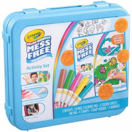 Crayola Color Wonder Mess Free Coloring Activity Set 38 pc Container