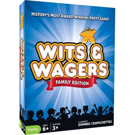 Wits & Wagers Family Edition - Kid Friendly Party Game and Trivia, Take a guess and score points by choosing whose guess is closest. History's most award-winning party.., By North Star Games](Halloween Party Trisha)