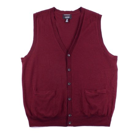 Nordstrom NEW Red Wine Mens Size XL V-Neck Button Down Sweater ...