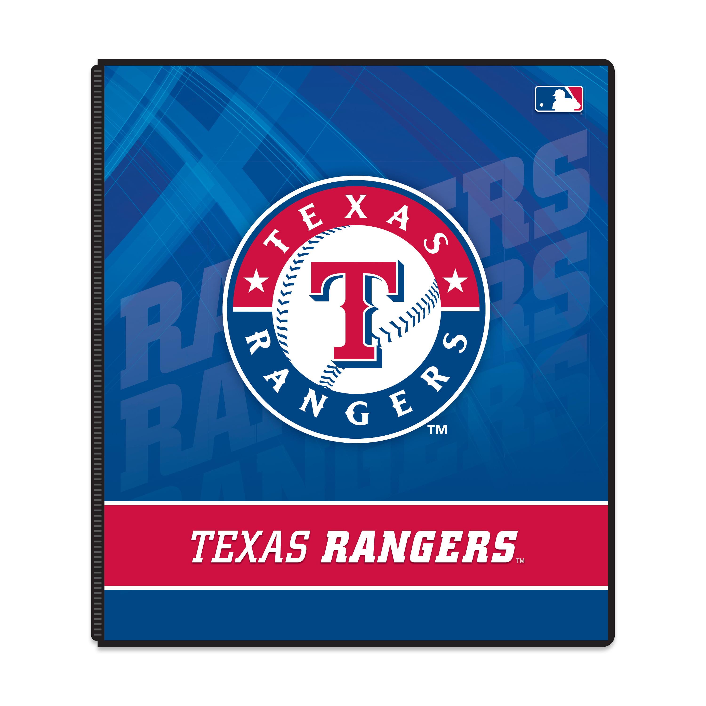 "MLB Texas Rangers 3 Ring Binder, 175 Sheet Capacity, 1"" Metal Rings"