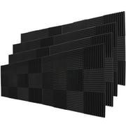 "96 Pack Acoustic Panels Studio Soundproofing Foam Wedges 1"" X 12"" X 12"""