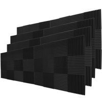 "96 Pack Acoustic Panels Studio Soundproofing Foam Wedges 1"" X 12"" X 12"""