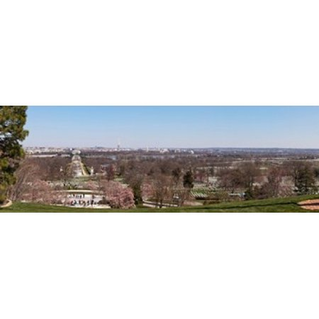 John F Kennedy Gravestones At A Gravesite Arlington National Cemetery Arlington Virginia Usa Poster Print