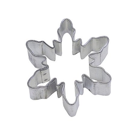 CybrTrayd R&M Snowflake Tinplated Steel Cookie Cutter, 2.25-Inch, Silver, Bulk Lot of 12