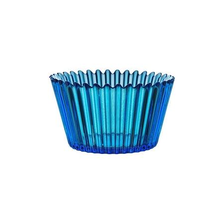 Kosta Boda Cupcake Design Decorative Glass Serving Bowl and Home Decor - Blue (Kosta Boda Flute)