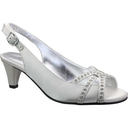 David Womens Slingback Shoes (Women's David Tate Regal Rhinestone Slingback)