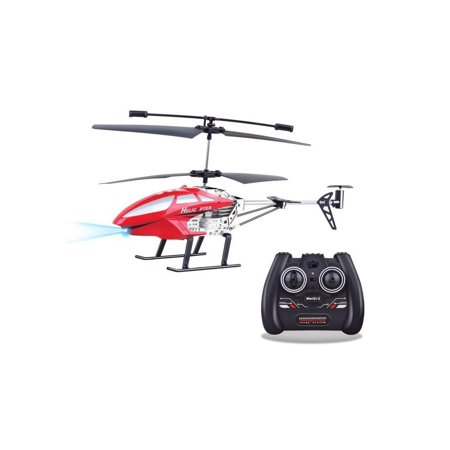 Top Race Remote Control Helicopter 3.5 Channel, Built in Gyro easy to Fly Red