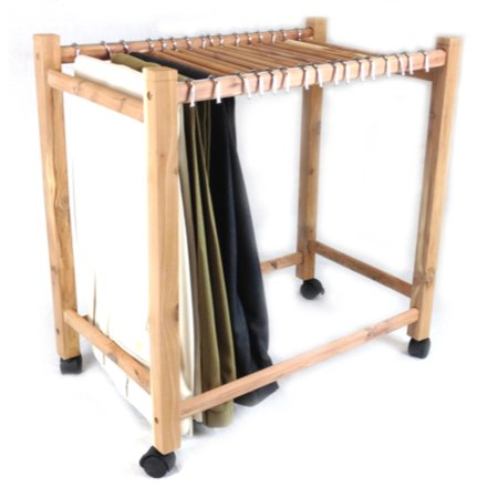 Aromatic Red Cedar Pant Trolley/Trouser Rack (16 Hangup Rods) Red Cedar Cat