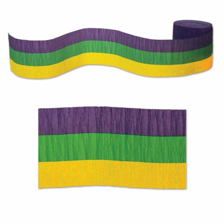 Finkelstein Mardi Gras Crepe Streamer Set of 12