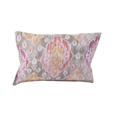 Benjara BM219411 Fabric Pillow Sham with Medallion Pattern & Side Zipper, Multi Color - 3 x 10 x 12 in. - image 1 de 1