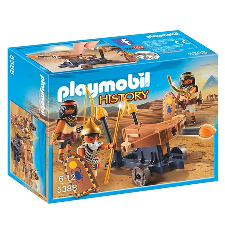 PLAYMOBIL Egyptian Troop with Ballista, A fiery battle awaits with the Egyptian Troop with Ballista By PLAYMOBIL