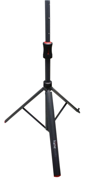 Gator Frameworks GFW-ID-SPKR Adjustable Speaker Stand w  Piston Driven Lift by Gator