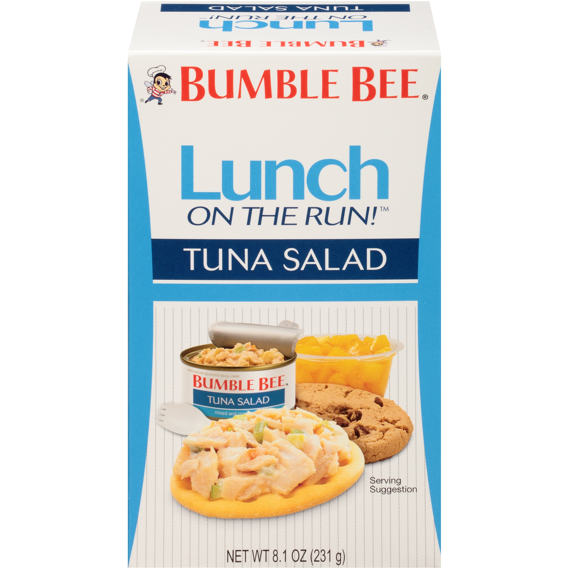 Bumble Bee Lunch on the Run! Tuna Salad with Crackers, Good Source of Protein, 8.1oz Kit