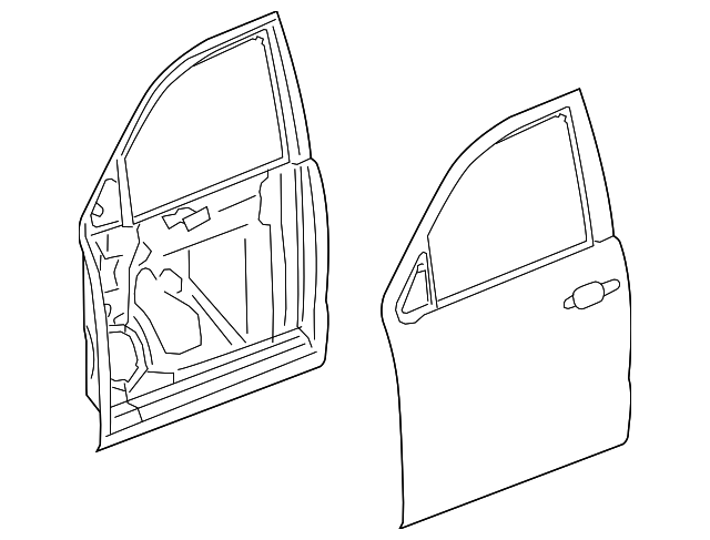 Genuine Oe Gm Door Shell 23331914