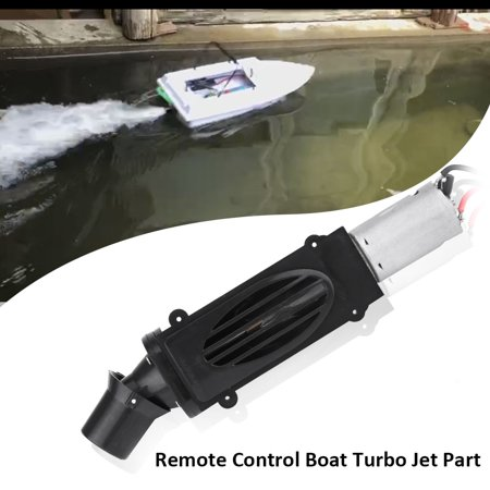 TOPINCN RC Boat Toy Ship Turbo Jet with Motor Remote Control Accessory DIY Part Set, RC Turbo Jet (Rtf Rc Jet)