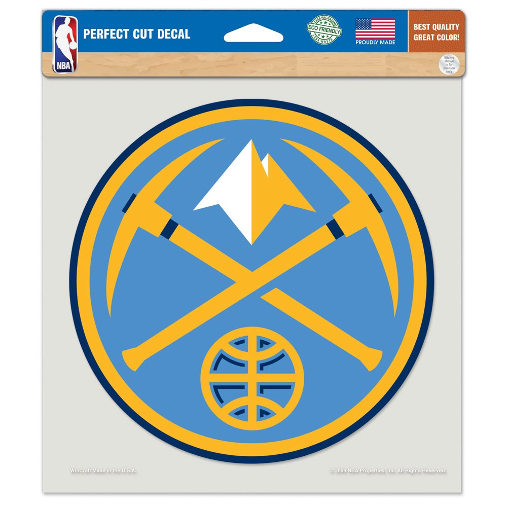 Denver Nuggets Official NBA 8 inch x 8 inch  Die Cut Car Decal by Wincraft