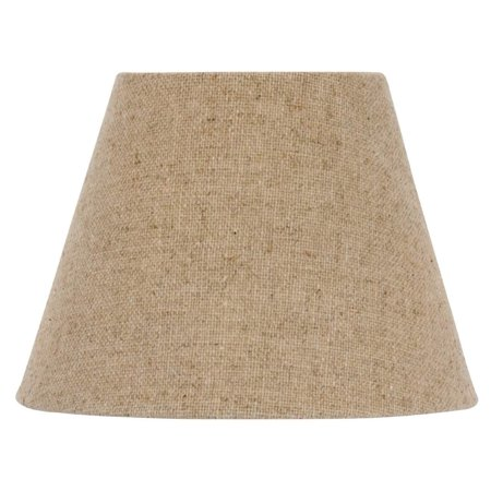 Oyster Linen Shade - European Drum Style Chandelier Lamp Shade 6 Inch Beige Linen Clips Onto Bulb